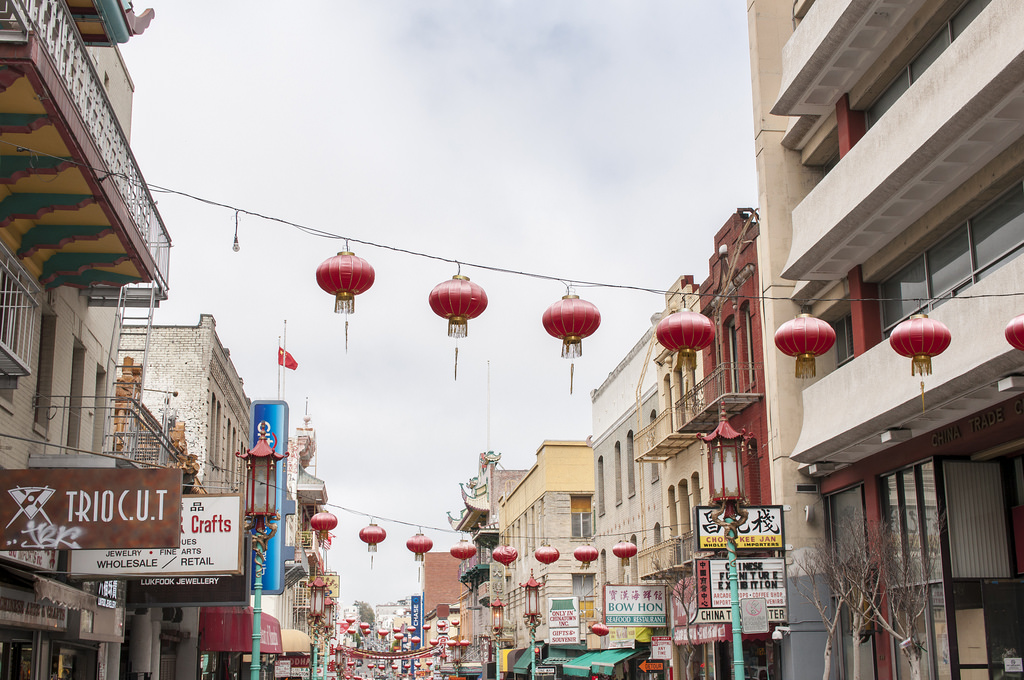 chińskie balony w Chinatown, San Francisco